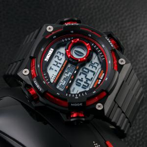 SKMEI Outdoor Alarm Luminous Digital Watch - RED