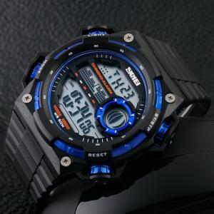 SKMEI Outdoor Alarm Luminous Digital Watch - BLUE