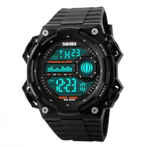 SKMEI Outdoor Alarm Luminous Digital Watch - Black