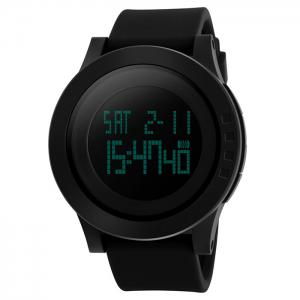 SKMEI Alarm Luminous Digital Sports Watch - BLACK