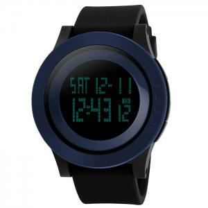 SKMEI Alarm Luminous Digital Sports Watch - Deep Blue