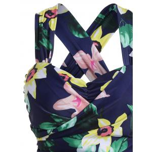 Plus Size HawaiianFloral High Waist Swimdress -