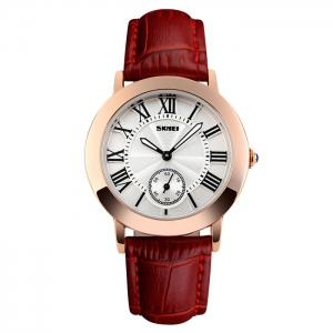 SKMEI Faux Leather Strap Roman Numeral Watch