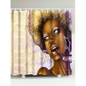 African Style Fabric Extra Long Shower Curtain