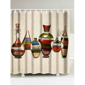 Art Vase Oil Painting Bathroom Shower Curtain - Beige - W71 Inch * L71 Inch