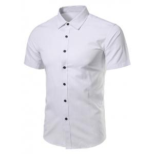 Turndown Collar Short Sleeve Business Shirt