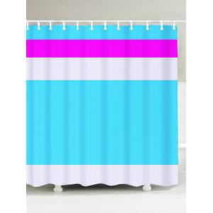 Polyester Fabric Color Block Shower Curtain - Lake Blue - W71 Inch * L71 Inch