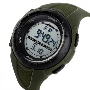 SKMEI Outdoor Luminous Digital Sports Watch - ARMY GREEN