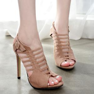 Buckled Gladiator Sandals with Heel