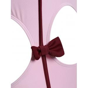 Bowknot Cut Out One Piece Swimwear -