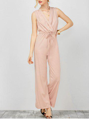 Chic Surplice Jumpsuit with Drawstring Waist