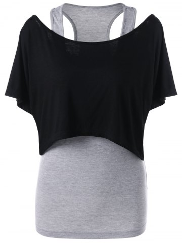 Affordable Crop Top with Racerback Camisole