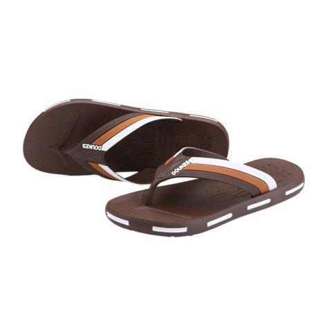 Outfits Star Letter Pattern Flip Flops - 43 BROWN Mobile