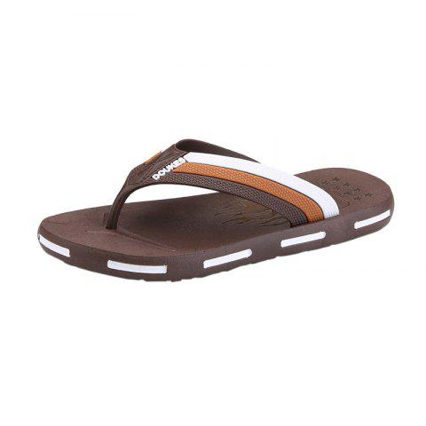 Buy Star Letter Pattern Flip Flops - Brown 44