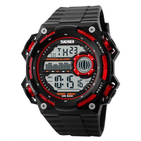 New SKMEI Outdoor Alarm Luminous Digital Watch - RED  Mobile