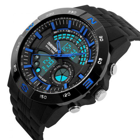 Chic SKMEI Outdoor Timer Tachymeter Digital Sports Watch - BLUE  Mobile