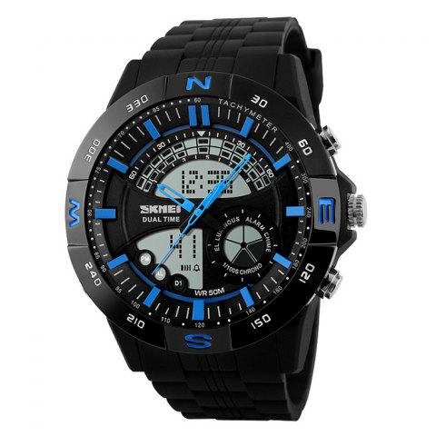 Cheap SKMEI Outdoor Timer Tachymeter Digital Sports Watch - BLUE  Mobile