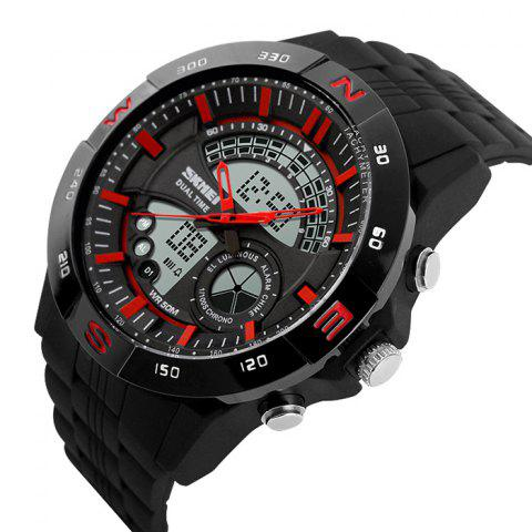 Chic SKMEI Outdoor Timer Tachymeter Digital Sports Watch - RED  Mobile