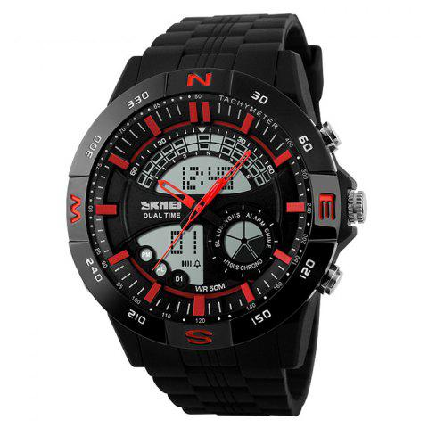 Outfit SKMEI Outdoor Timer Tachymeter Digital Sports Watch - RED  Mobile