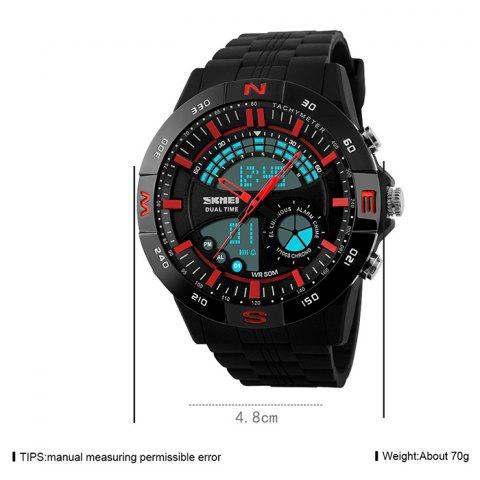 Unique SKMEI Outdoor Timer Tachymeter Digital Sports Watch - RED  Mobile