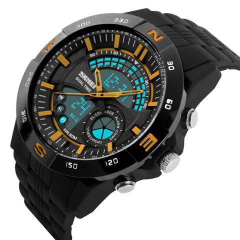 Buy SKMEI Outdoor Timer Tachymeter Digital Sports Watch - YELLOW  Mobile