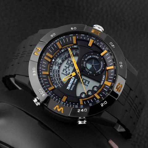 Unique SKMEI Outdoor Timer Tachymeter Digital Sports Watch - YELLOW  Mobile