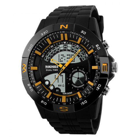 Chic SKMEI Outdoor Timer Tachymeter Digital Sports Watch - YELLOW  Mobile