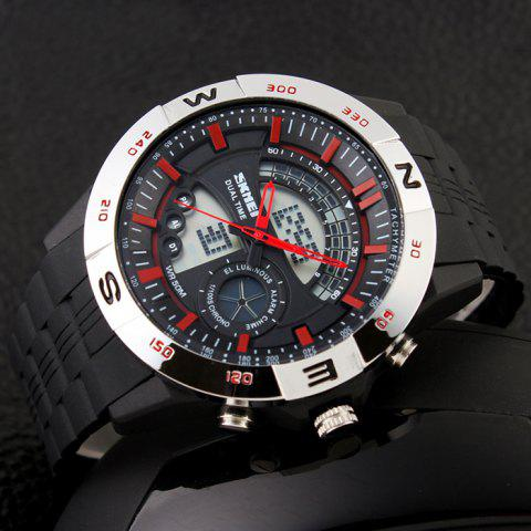 Sale SKMEI Outdoor Timer Tachymeter Digital Sports Watch - SILVER AND RED  Mobile