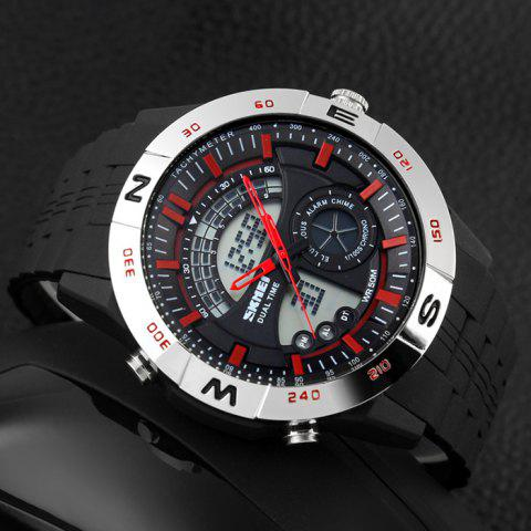 Shops SKMEI Outdoor Timer Tachymeter Digital Sports Watch - SILVER AND RED  Mobile