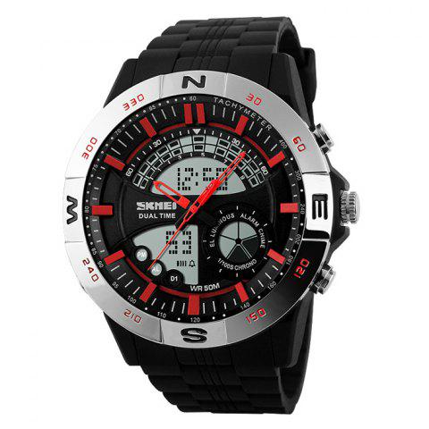 Buy SKMEI Outdoor Timer Tachymeter Digital Sports Watch - SILVER AND RED  Mobile