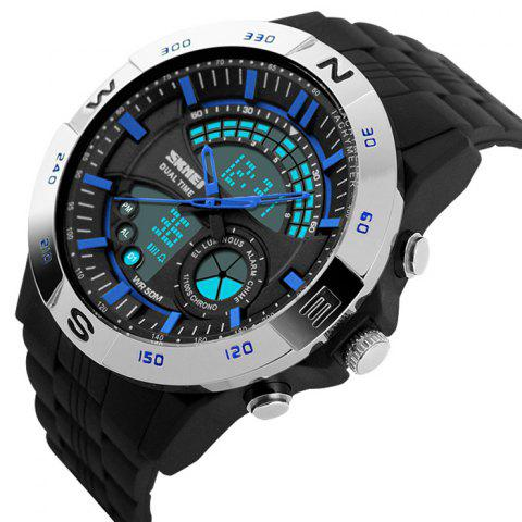 Shops SKMEI Outdoor Timer Tachymeter Digital Sports Watch - SILVER AND BLUE  Mobile