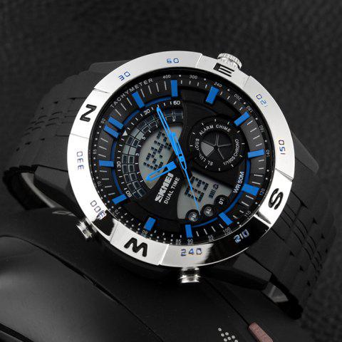 Sale SKMEI Outdoor Timer Tachymeter Digital Sports Watch - SILVER AND BLUE  Mobile