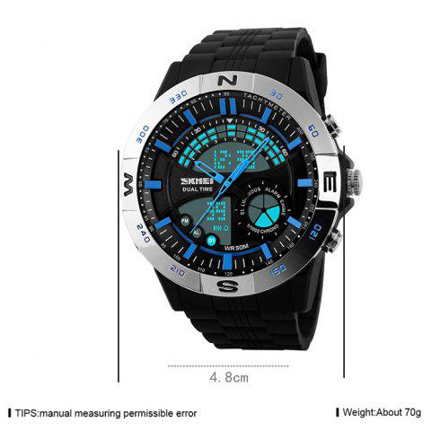 Store SKMEI Outdoor Timer Tachymeter Digital Sports Watch - SILVER AND BLUE  Mobile