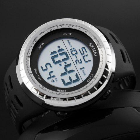Buy SKMEI Pedometer Luminous Digital Sports Watch - SILVER  Mobile