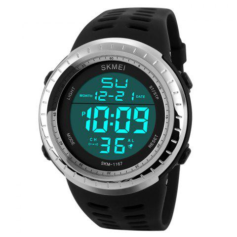 Fashion SKMEI Pedometer Luminous Digital Sports Watch - SILVER  Mobile