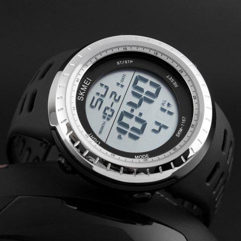 Store SKMEI Pedometer Luminous Digital Sports Watch - SILVER  Mobile