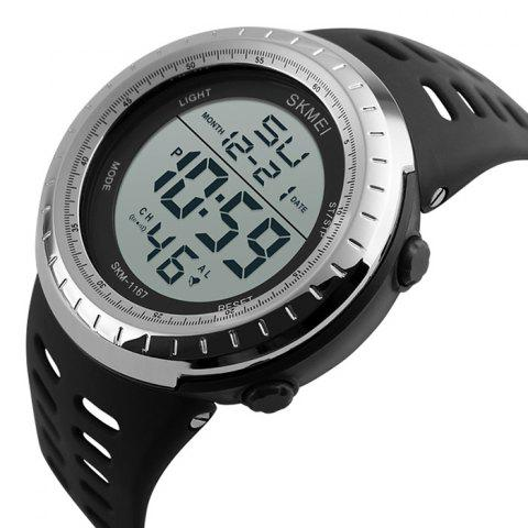 Online SKMEI Pedometer Luminous Digital Sports Watch - SILVER  Mobile
