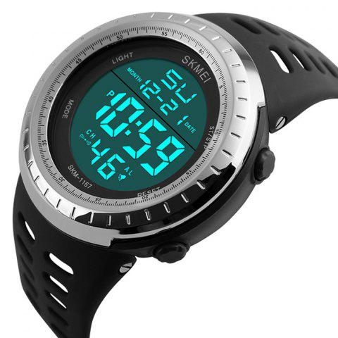 Sale SKMEI Pedometer Luminous Digital Sports Watch - SILVER  Mobile