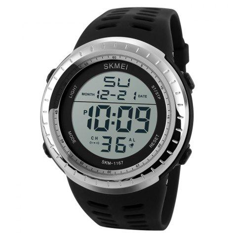 Shops SKMEI Pedometer Luminous Digital Sports Watch - SILVER  Mobile