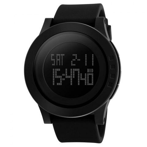Online SKMEI Alarm Luminous Digital Sports Watch BLACK