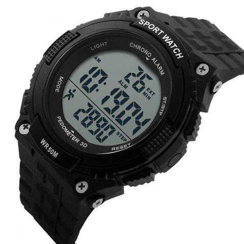 New SKMEI Outdoor Pedometer Digital Sports Watch - BLACK  Mobile