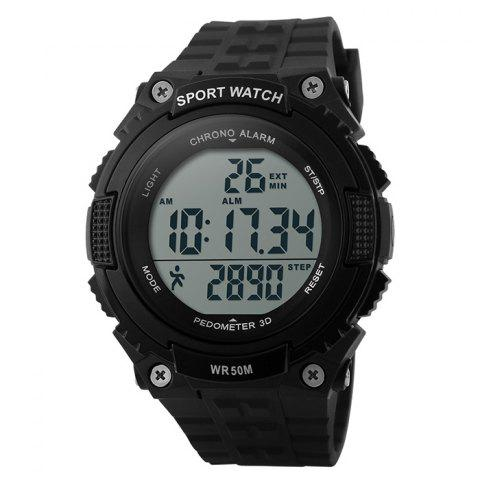 Shops SKMEI Outdoor Pedometer Digital Sports Watch - BLACK  Mobile