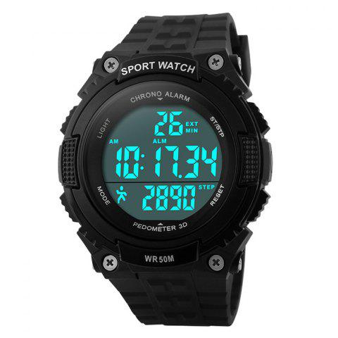 Outfit SKMEI Outdoor Pedometer Digital Sports Watch - BLACK  Mobile
