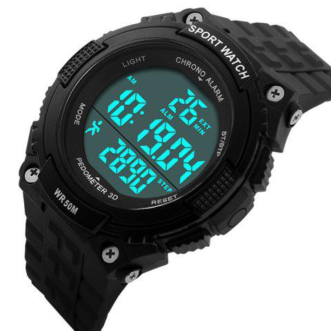 Trendy SKMEI Outdoor Pedometer Digital Sports Watch - BLACK  Mobile