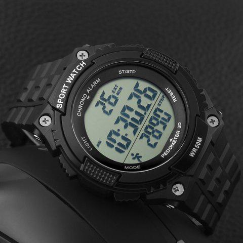 Unique SKMEI Outdoor Pedometer Digital Sports Watch - BLACK  Mobile