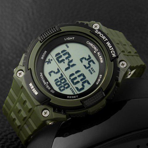 Buy SKMEI Outdoor Pedometer Digital Sports Watch - ARMY GREEN  Mobile