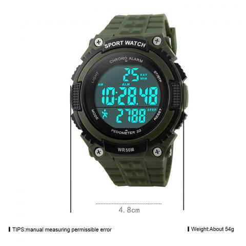 Fashion SKMEI Outdoor Pedometer Digital Sports Watch - ARMY GREEN  Mobile