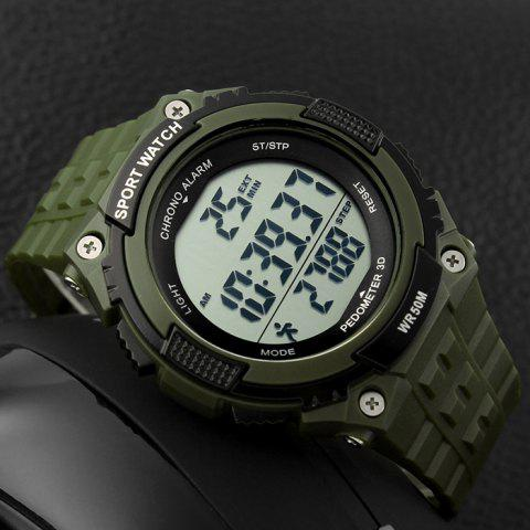 Unique SKMEI Outdoor Pedometer Digital Sports Watch - ARMY GREEN  Mobile