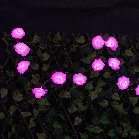 Store Party LED Rose Flower String Lights - PURPLE  Mobile