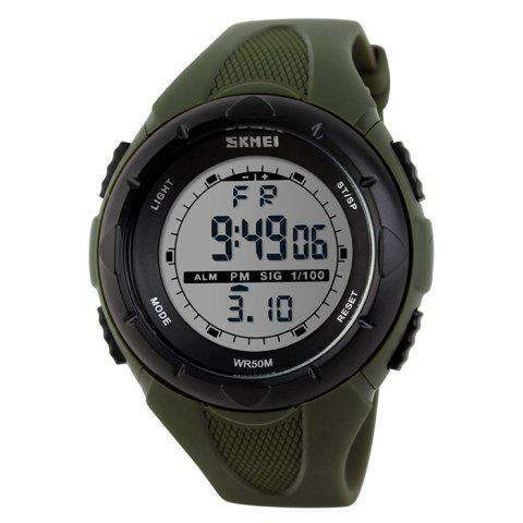 Hot SKMEI Outdoor Luminous Digital Sports Watch - ARMY GREEN  Mobile